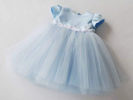 Sukienka tiulowa – niebieska