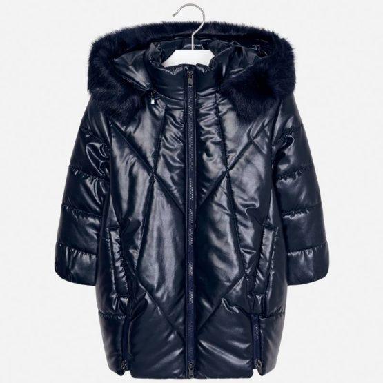 MAYORAL – Długa kurtka z kapturem i futerkiem