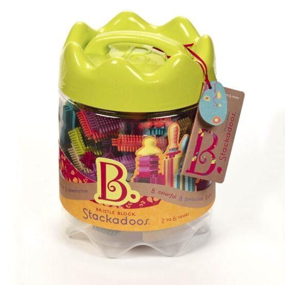 B.toys – Stackadoos in Jar – klocki jeżyki w słoju