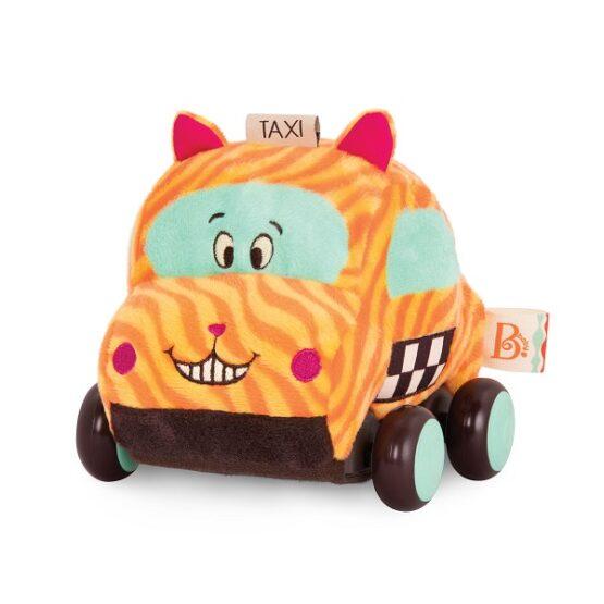 B.toys – B. Softies Wheeee-ls! – pluszowe autko z napędem – kotek