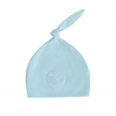 Effiki – Czapeczka 100% bawełny- Niebieska z sercem