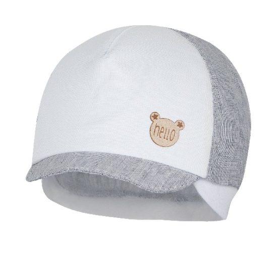 Broel – Czapka dla chłopca – Danilo biało-szara