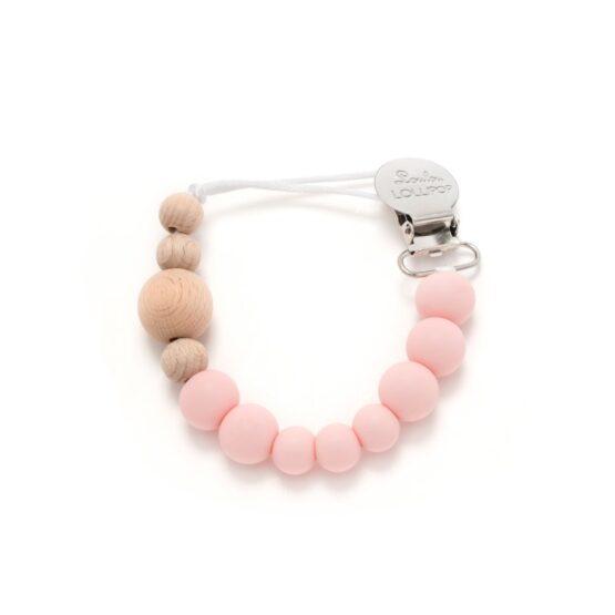 LouLou Lollipop – Zawieszka do smoczka lub gryzaka – Delicate Pink
