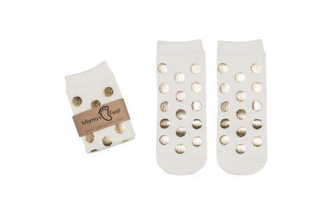 Mama's Feet – Skarpetki w groszki – Białe