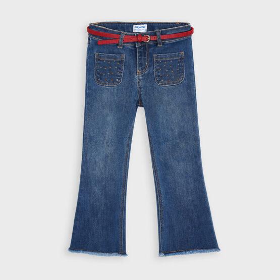 MAYORAL – Spodnie jeansowe z paskiem