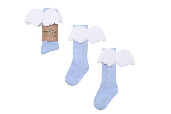 Mama's Feet – Podkolanówki Aniołki – Błękitne