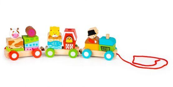 Pociąg drewniany – Farma