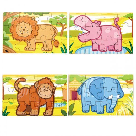Drewniane Puzzle Safari Zwierzęta