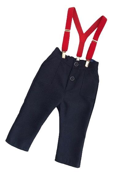 Eleganckie spodnie z szelkami