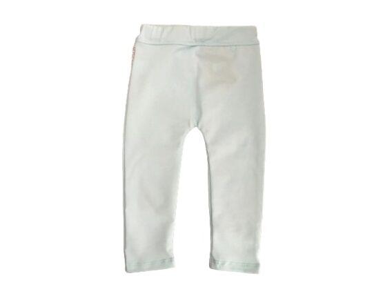 Spodnie miętowe z falbanką
